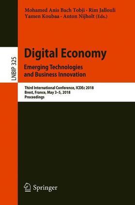 Bach Tobji / Jallouli / Koubaa   Digital Economy. Emerging Technologies and Business Innovation   Buch   sack.de
