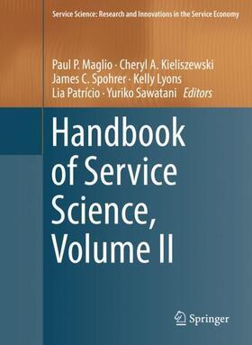 Maglio / Kieliszewski / Spohrer   Handbook of Service Science, Volume II   Buch   sack.de