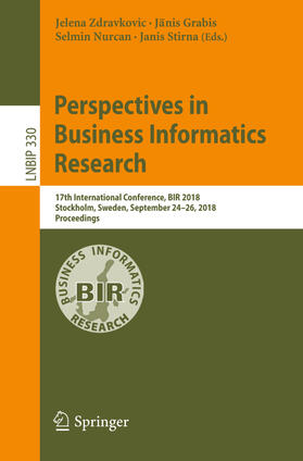 Zdravkovic / Grabis / Nurcan | Perspectives in Business Informatics Research | Buch | sack.de