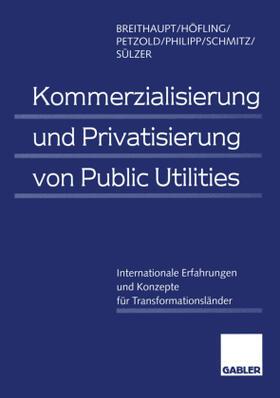 Breithaupt / Höfling / Sülzer | Kommerzialisierung und Privatisierung von Public Utilities | Buch | sack.de