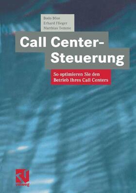 Böse / Flieger / Temme   Call Center-Steuerung   Buch   sack.de