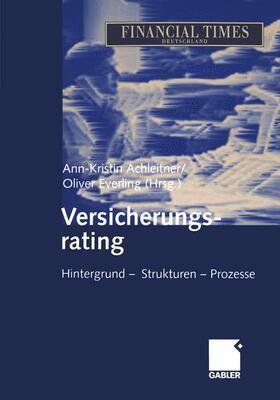 Achleitner / Everling | Versicherungsrating | Buch | sack.de