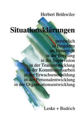 Brühwiler | Situationsklärungen | Buch | sack.de