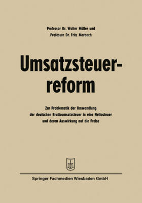 Müller | Umsatzsteuerreform | Buch | sack.de
