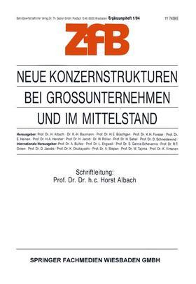 Albach | Neue Konzernstrukturen bei Großunternehmen und im Mittelstand | Buch | sack.de
