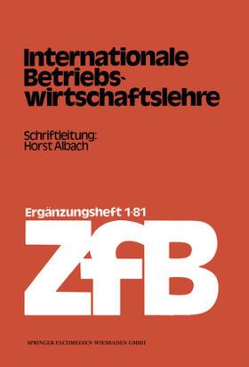 Albach   Internationale Betriebswirtschaftslehre   Buch   sack.de