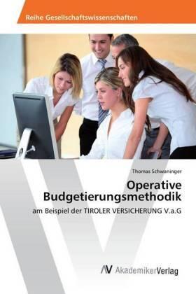 Operative Budgetierungsmethodik | Buch | sack.de