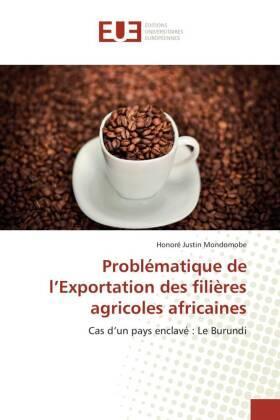 Mondomobe | Problématique de l'Exportation des filières agricoles africaines | Buch | sack.de