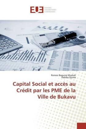 Baguma Mashali / Djuma | Capital Social et accès au Crédit par les PME de la Ville de Bukavu | Buch | sack.de