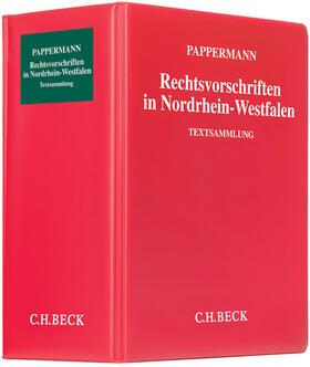 Pappermann | Rechtsvorschriften in Nordrhein-Westfalen, mit Fortsetzungsbezug | Loseblattwerk | sack.de