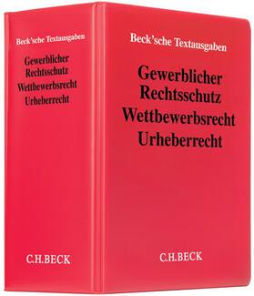Gewerblicher Rechtsschutz, Wettbewerbsrecht, Urheberrecht, mit Fortsetzungsbezug   Loseblattwerk   sack.de