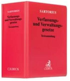 Sartorius | Verfassungs- und Verwaltungsgesetze, ohne Fortsetzungsbezug | Loseblattwerk | sack.de