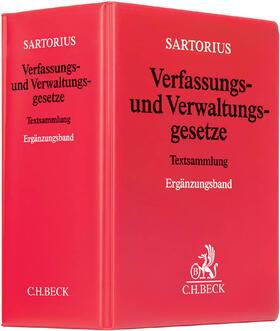 Sartorius | Verfassungs- und Verwaltungsgesetze Ergänzungsband, mit Fortsetzungsbezug | Loseblattwerk | sack.de