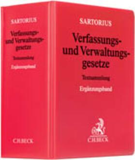 Sartorius | Verfassungs- und Verwaltungsgesetze Ergänzungsband, ohne Fortsetzungsbezug | Loseblattwerk | sack.de