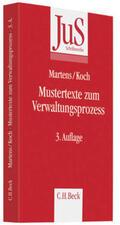 Martens / Koch |  Mustertexte zum Verwaltungsprozess | Buch |  Sack Fachmedien