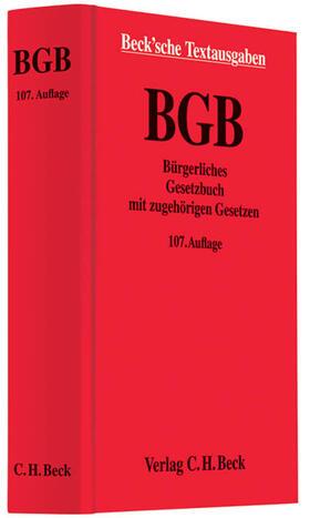 Bürgerliches Gesetzbuch (BGB) mit zugehörigen Gesetzen | Buch | sack.de