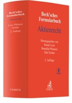 Lorz / Pfisterer / Gerber   Beck'sches Formularbuch Aktienrecht   Buch   sack.de