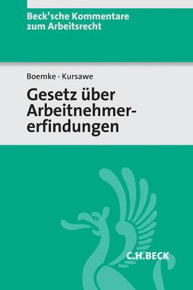 Boemke / Kursawe | Gesetz über Arbeitnehmererfindungen | Buch | sack.de