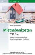 Lützenkirchen |  Mietnebenkosten von A-Z | eBook | Sack Fachmedien