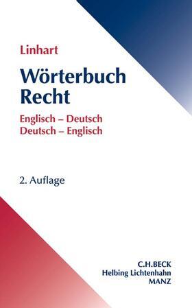 Linhart | Wörterbuch Recht / Dictionary of Law | Buch | sack.de
