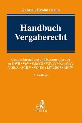 Gabriel / Krohn / Neun | Handbuch Vergaberecht | Buch | Sack Fachmedien