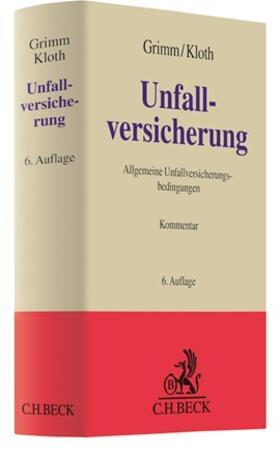 Grimm / Kloth   Unfallversicherung: AUB   Buch   sack.de