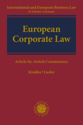 Kindler / Lieder   Corporate Law   Buch   Sack Fachmedien