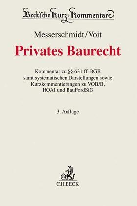 Messerschmidt / Voit | Privates Baurecht | Buch