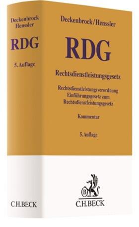 Deckenbrock / Henssler | Rechtsdienstleistungsgesetz: RDG | Buch | sack.de
