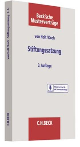 Holt / Koch   Stiftungssatzung   Buch   sack.de