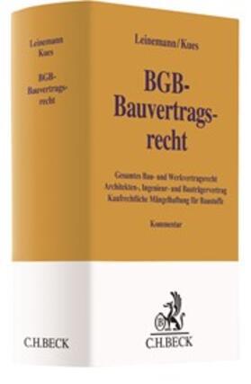 Leinemann / Kues | BGB-Bauvertragsrecht, Kommentar | Buch | Sack Fachmedien