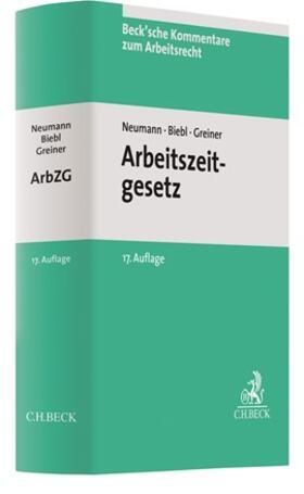 Neumann / Biebl | Arbeitszeitgesetz: ArbZG | Buch | sack.de