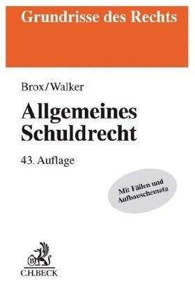 Brox / Walker   Allgemeines Schuldrecht   Buch   Sack Fachmedien