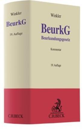 Winkler   Beurkundungsgesetz: BeurkG   Buch   Sack Fachmedien