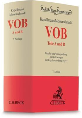 Kapellmann / Messerschmidt | VOB Teile A und B: VOB A und B | Buch | sack.de