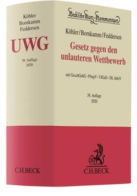 Köhler / Bornkamm / Feddersen | Gesetz gegen den unlauteren Wettbewerb: UWG | Buch | sack.de
