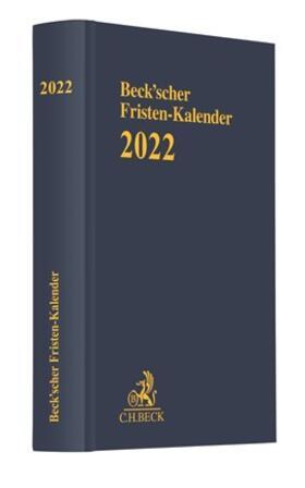 Beck'scher Fristen-Kalender 2022 | Sonstiges | sack.de