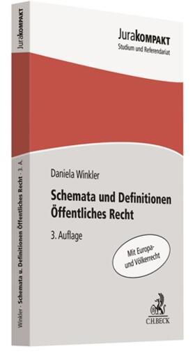 Winkler | Schemata und Definitionen Öffentliches Recht | Buch | sack.de