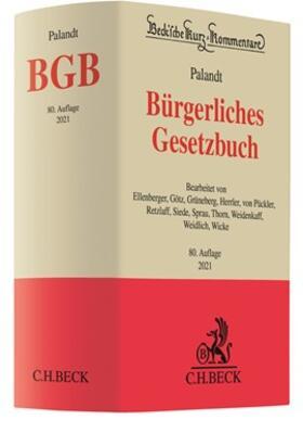 Palandt | Bürgerliches Gesetzbuch: BGB | Buch | sack.de