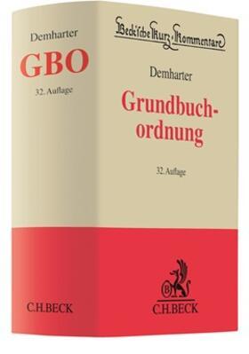 Demharter | Grundbuchordnung: GBO  | Buch | sack.de
