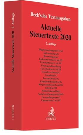 Aktuelle Steuertexte 2020   Buch   sack.de