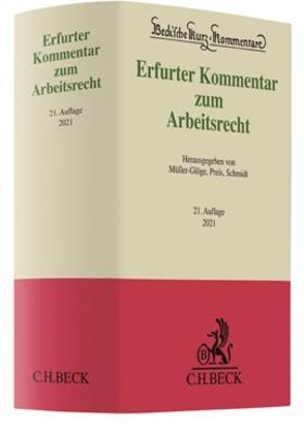 Müller-Glöge / Preis / Schmidt   Erfurter Kommentar zum Arbeitsrecht   Buch   sack.de