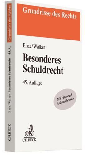 Brox / Walker   Besonderes Schuldrecht   Buch   sack.de