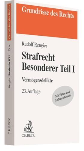 Rengier   Strafrecht Besonderer Teil I   Buch   sack.de