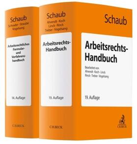 Schaub | Set: Arbeitsrechts-Handbuch (19. Auflage) und Arbeitsrechtliches Formular- und Verfahrenshandbuch (14. Auflage) | Buch | sack.de