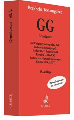 GG: Grundgesetz für die Bundesrepublik Deutschland | Buch | sack.de