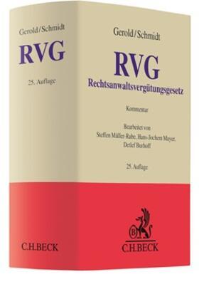 Gerold / Schmidt | Rechtsanwaltsvergütungsgesetz: RVG  | Buch | sack.de