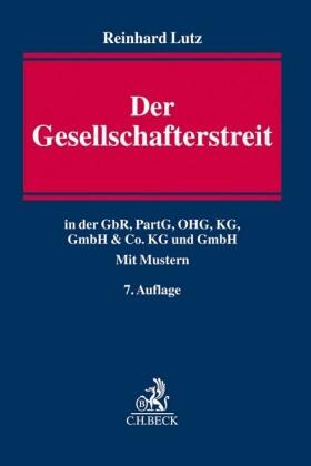 Lutz   Der Gesellschafterstreit   Buch   sack.de