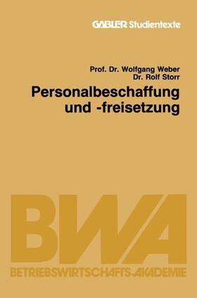 Weber / Storr   Personalbeschaffung und -freisetzung   Buch   sack.de