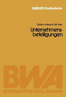 Petry   Unternehmensbeteiligungen   Buch   sack.de